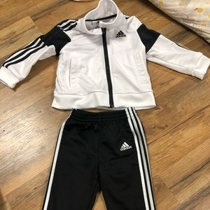 Adidas two piece sweat outfit